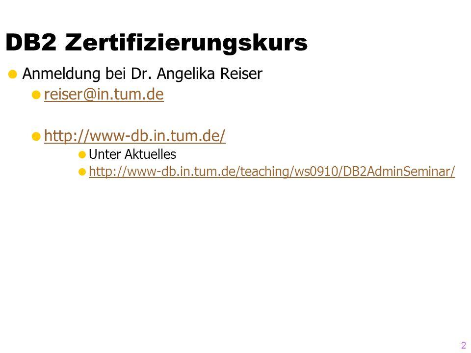 DB2 Zertifizierungskurs