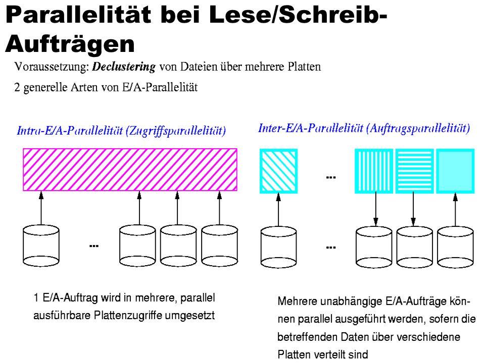 Parallelität bei Lese/Schreib-Aufträgen