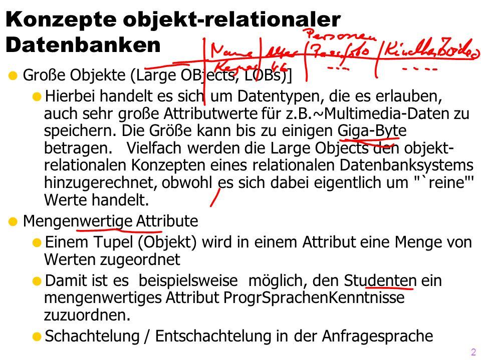 Konzepte objekt-relationaler Datenbanken
