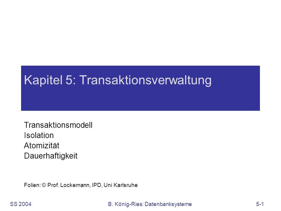 Kapitel 5: Transaktionsverwaltung