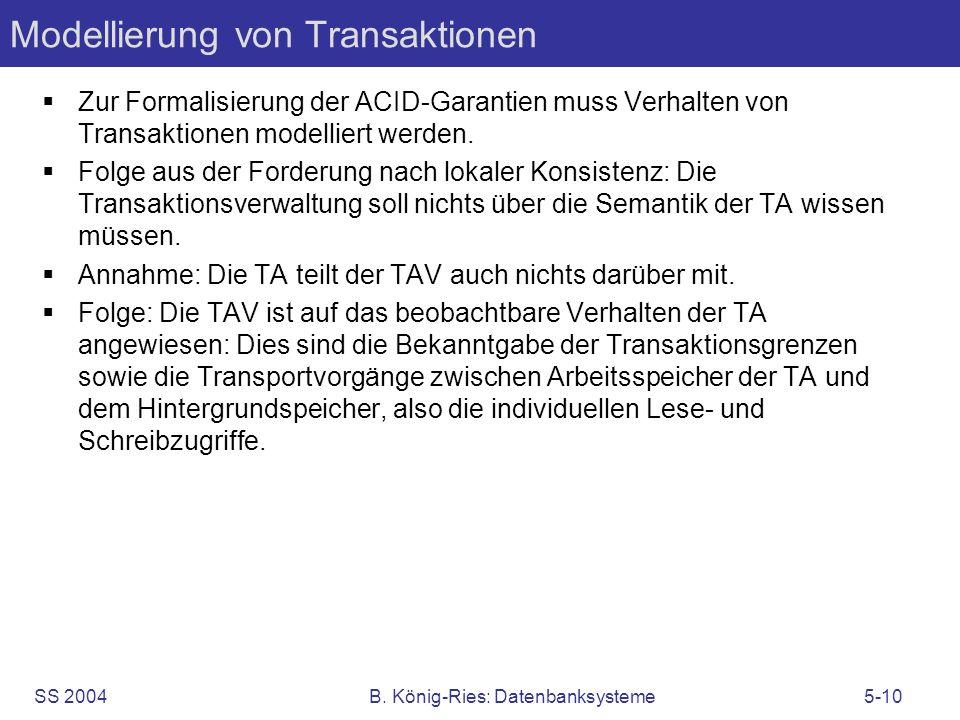 Modellierung von Transaktionen
