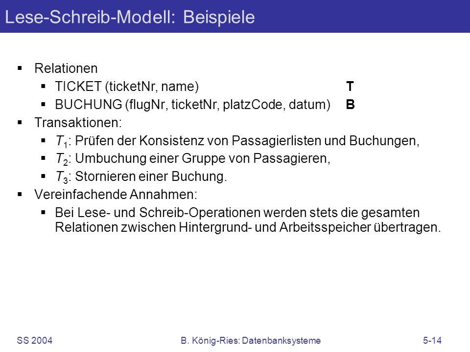 Lese-Schreib-Modell: Beispiele