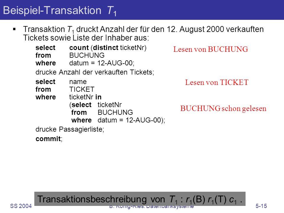 Beispiel-Transaktion T1