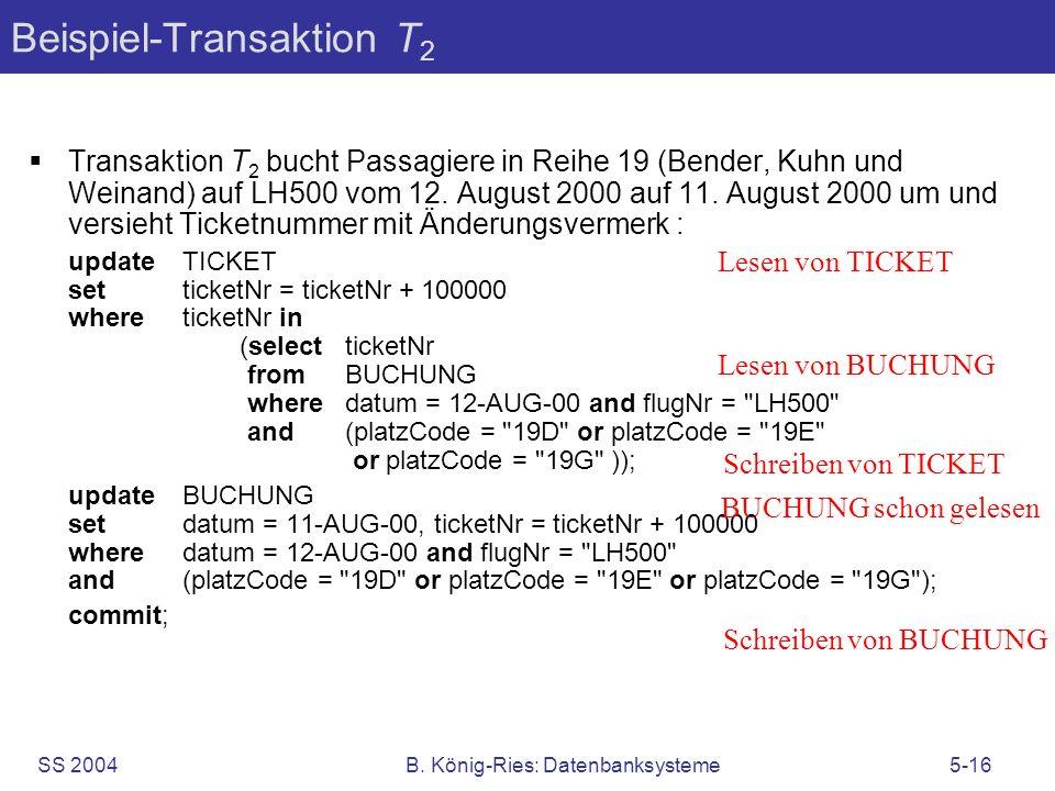 Beispiel-Transaktion T2