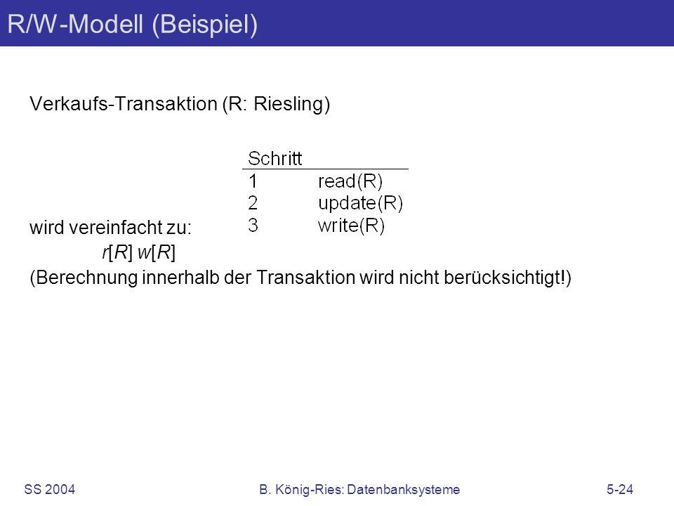 R/W-Modell (Beispiel)