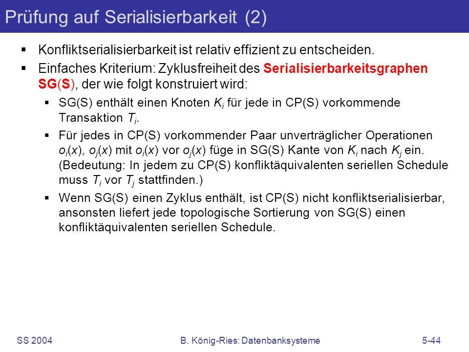 Prüfung auf Serialisierbarkeit (2)