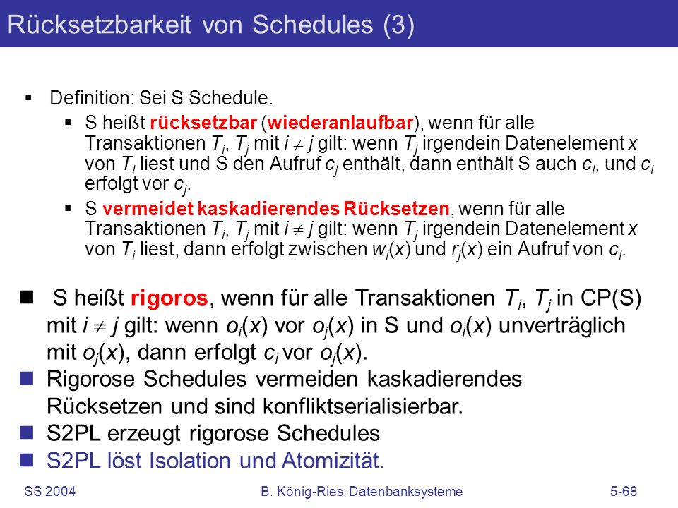Rücksetzbarkeit von Schedules (3)