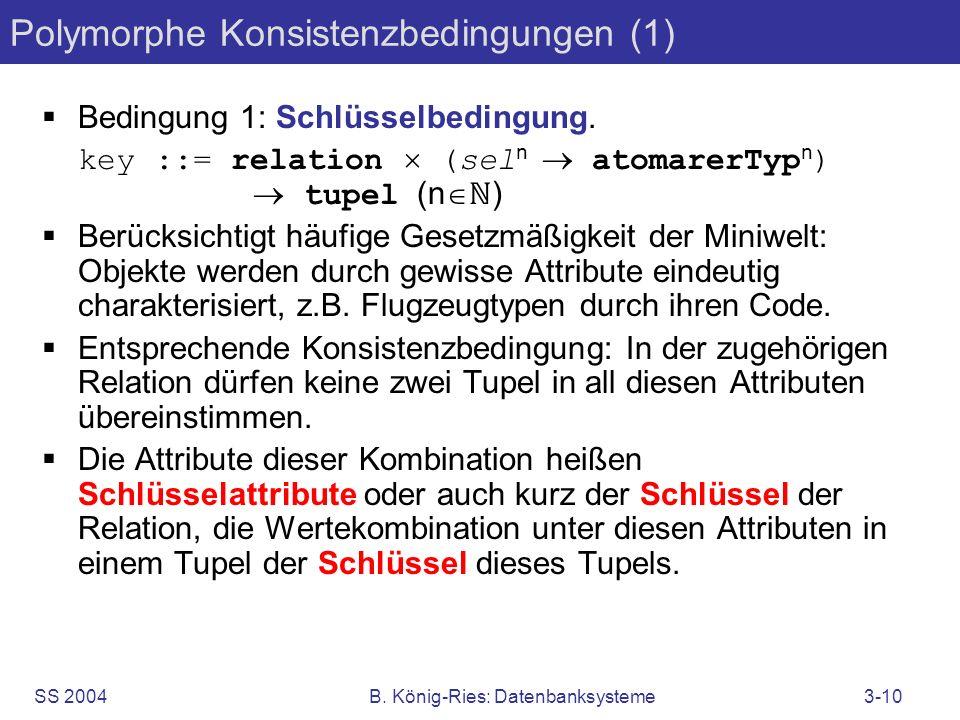 Polymorphe Konsistenzbedingungen (1)