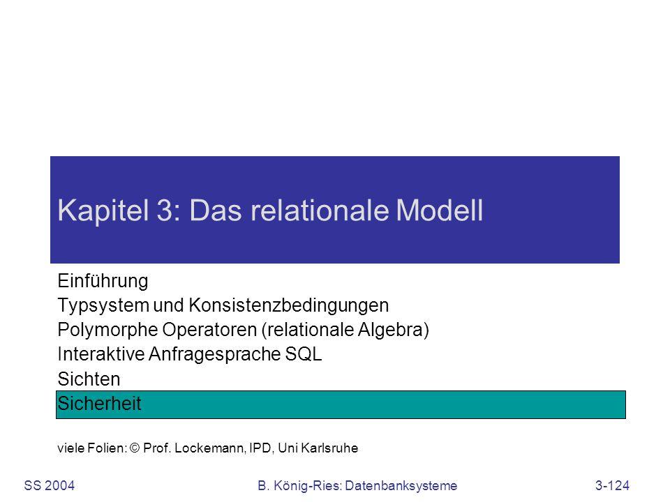 Kapitel 3: Das relationale Modell