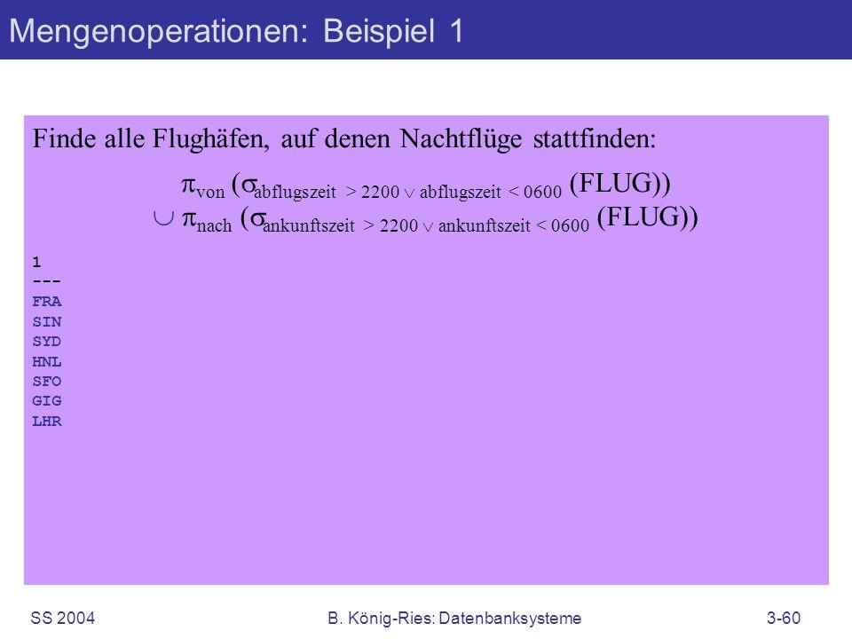 Mengenoperationen: Beispiel 1