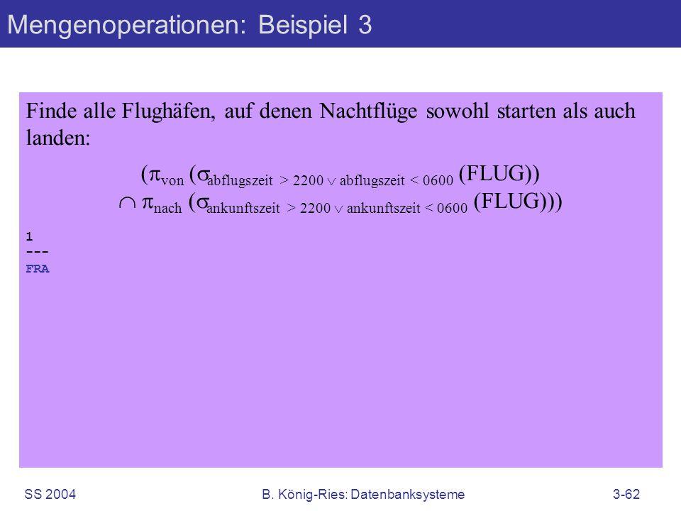 Mengenoperationen: Beispiel 3