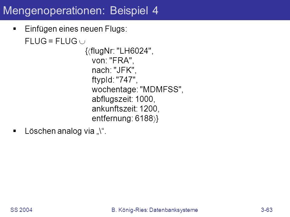 Mengenoperationen: Beispiel 4