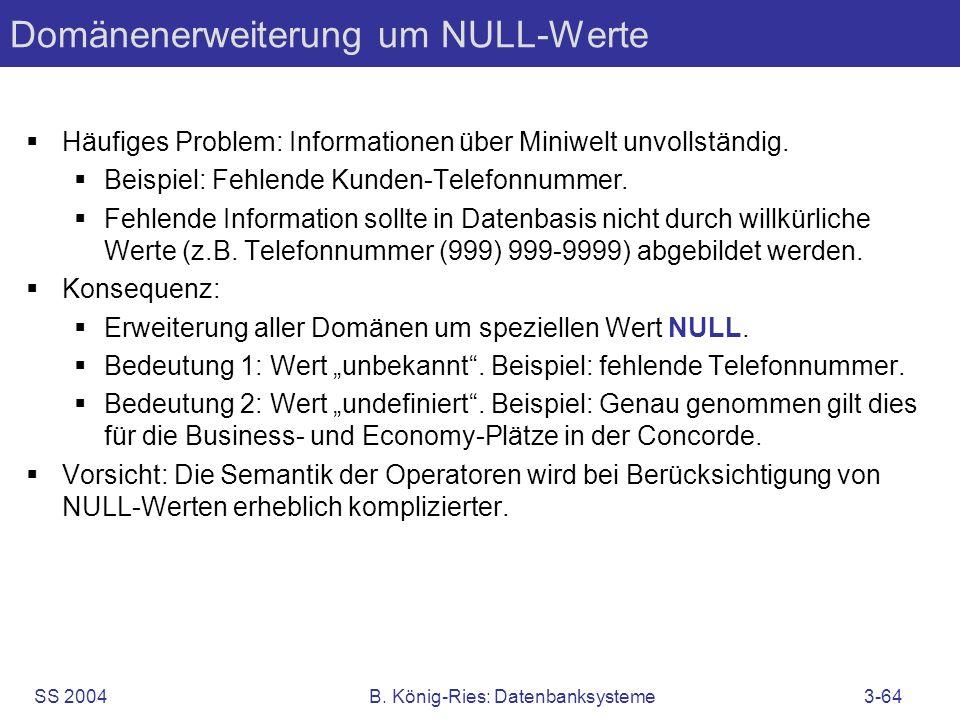 Domänenerweiterung um NULL-Werte