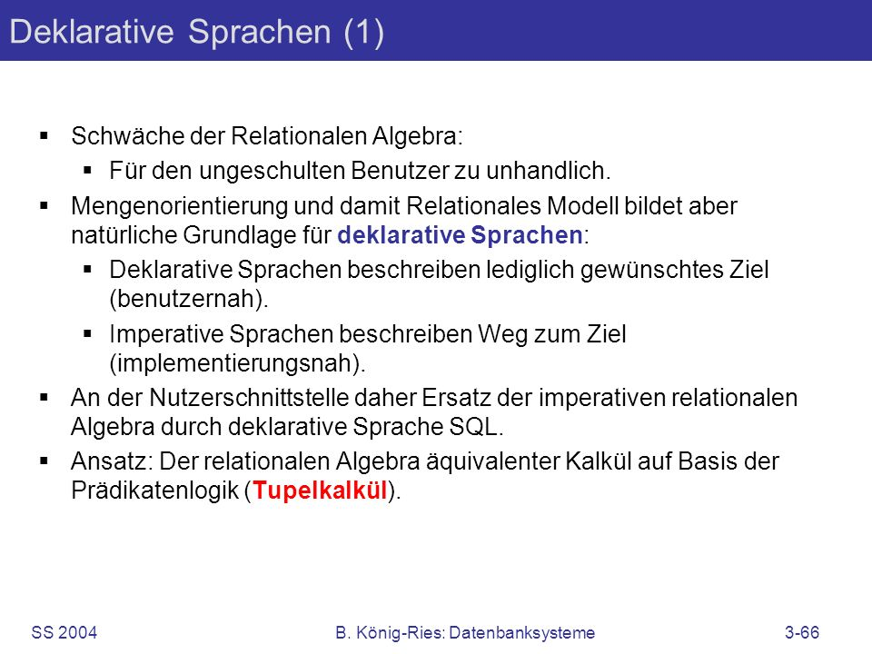 Deklarative Sprachen (1)