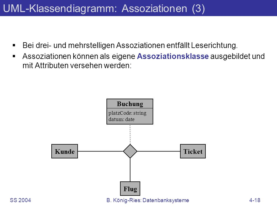 UML-Klassendiagramm: Assoziationen (3)