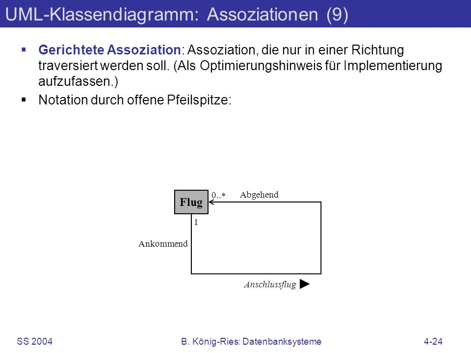 UML-Klassendiagramm: Assoziationen (9)