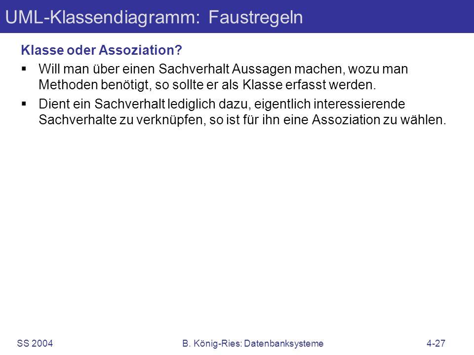UML-Klassendiagramm: Faustregeln