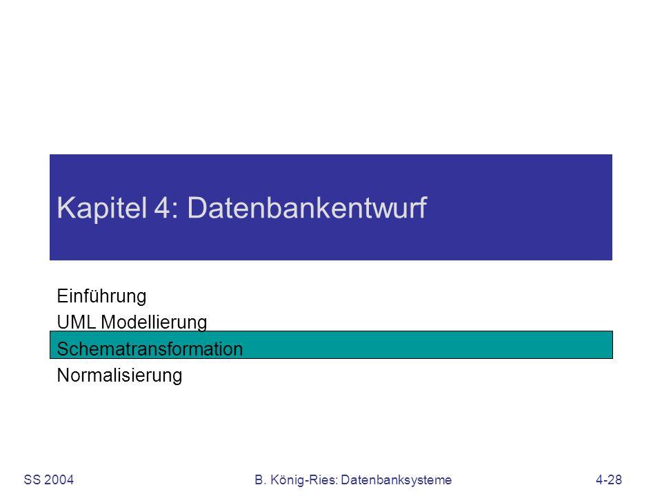 Kapitel 4: Datenbankentwurf