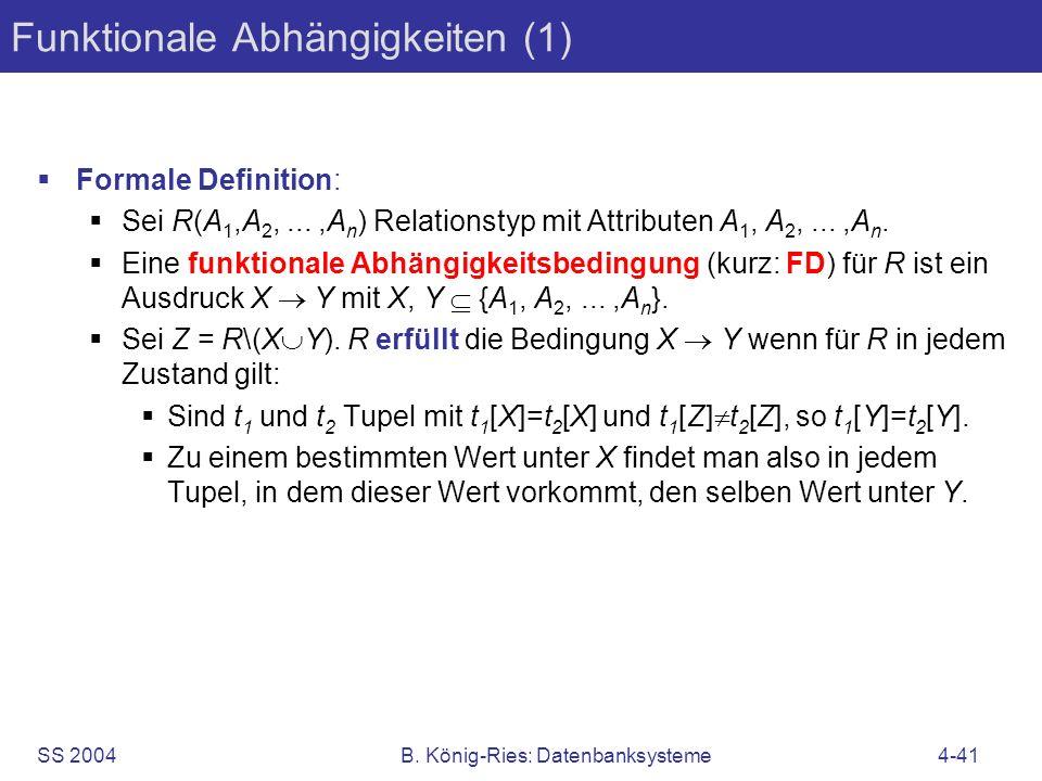 Funktionale Abhängigkeiten (1)