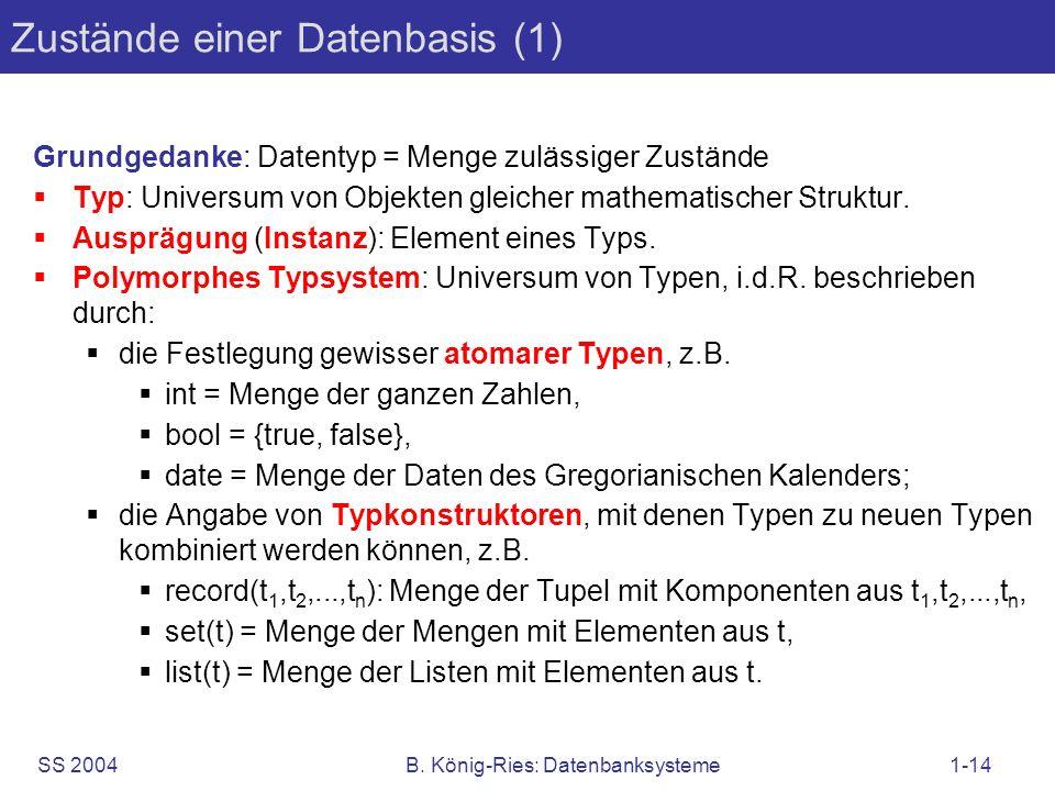 Zustände einer Datenbasis (1)