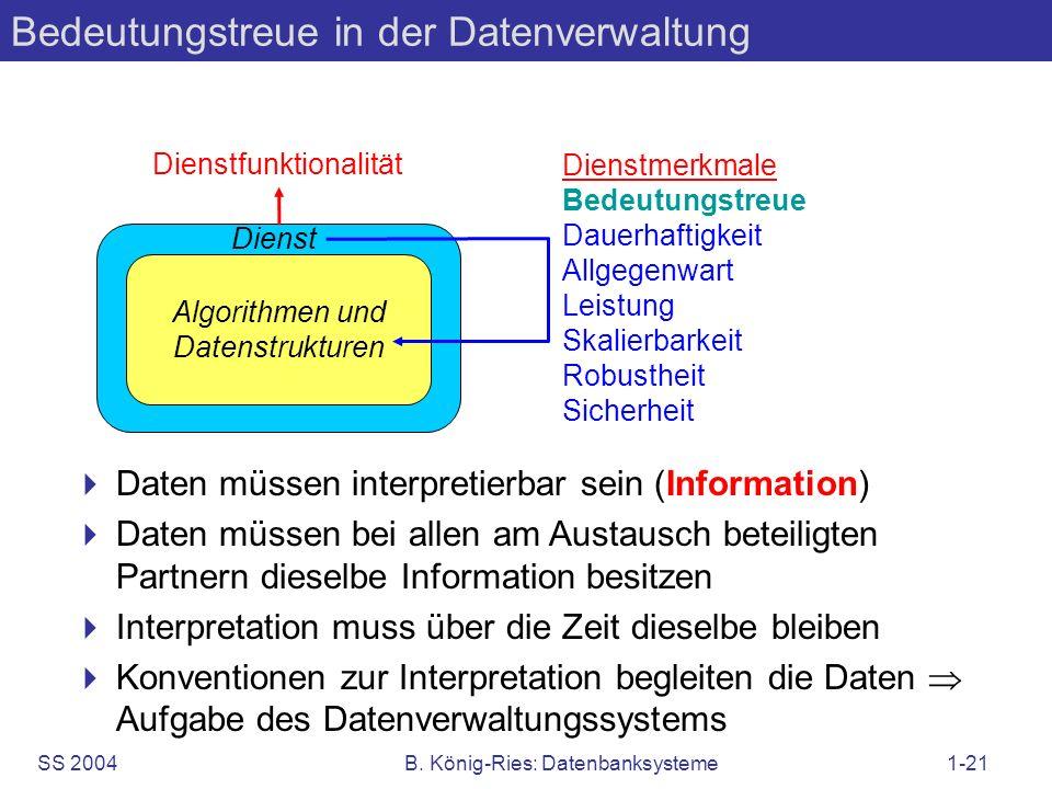 Bedeutungstreue in der Datenverwaltung