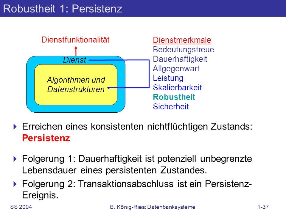 Robustheit 1: Persistenz