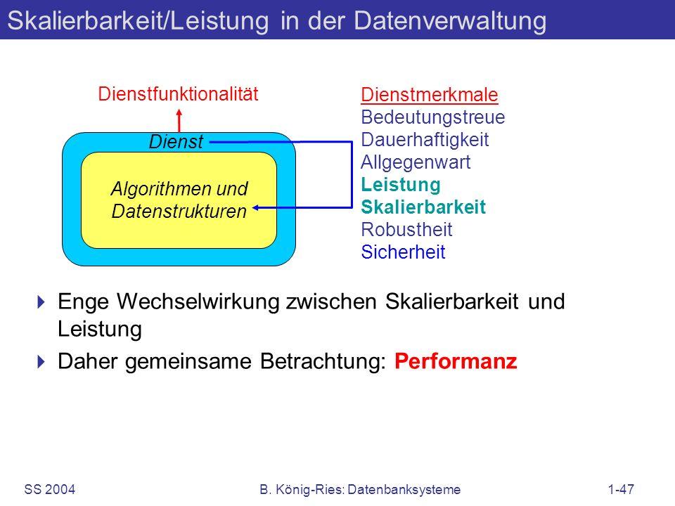 Skalierbarkeit/Leistung in der Datenverwaltung
