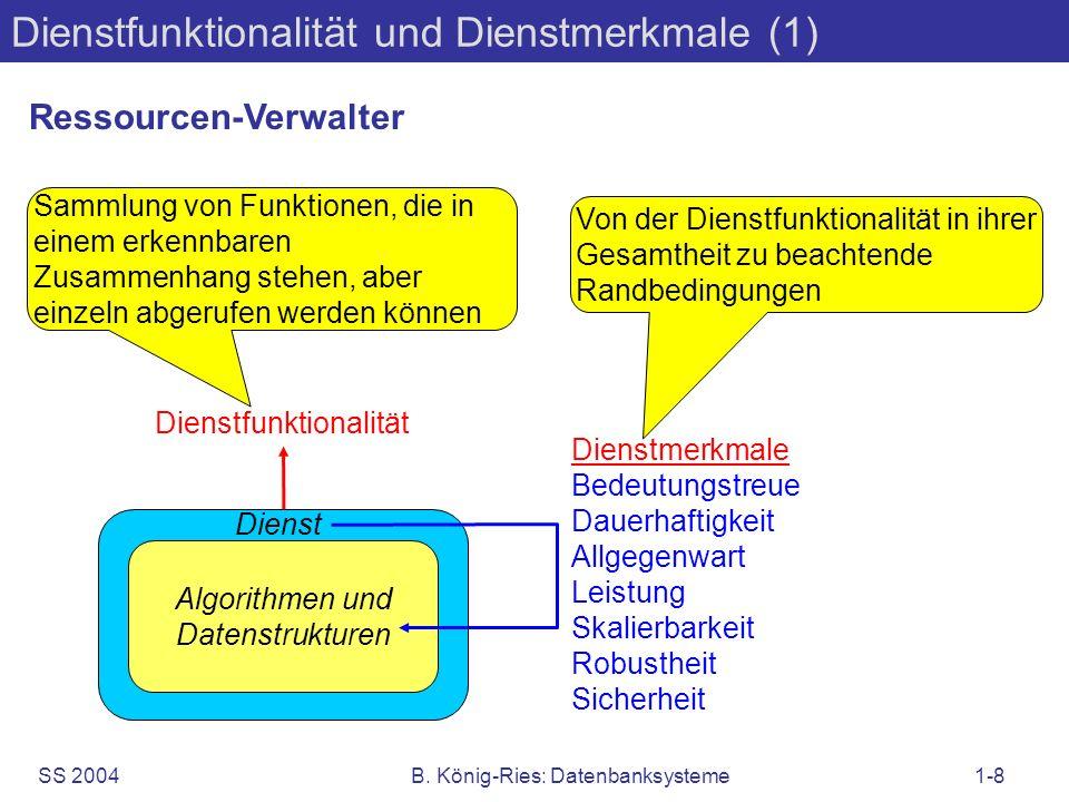 Dienstfunktionalität und Dienstmerkmale (1)