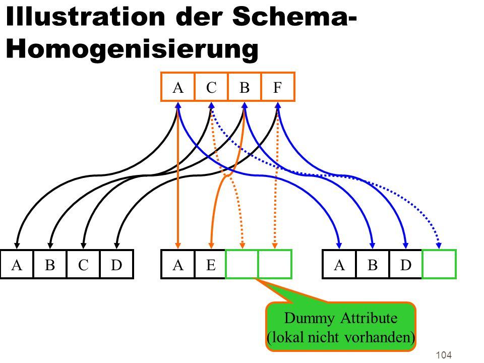 Illustration der Schema-Homogenisierung