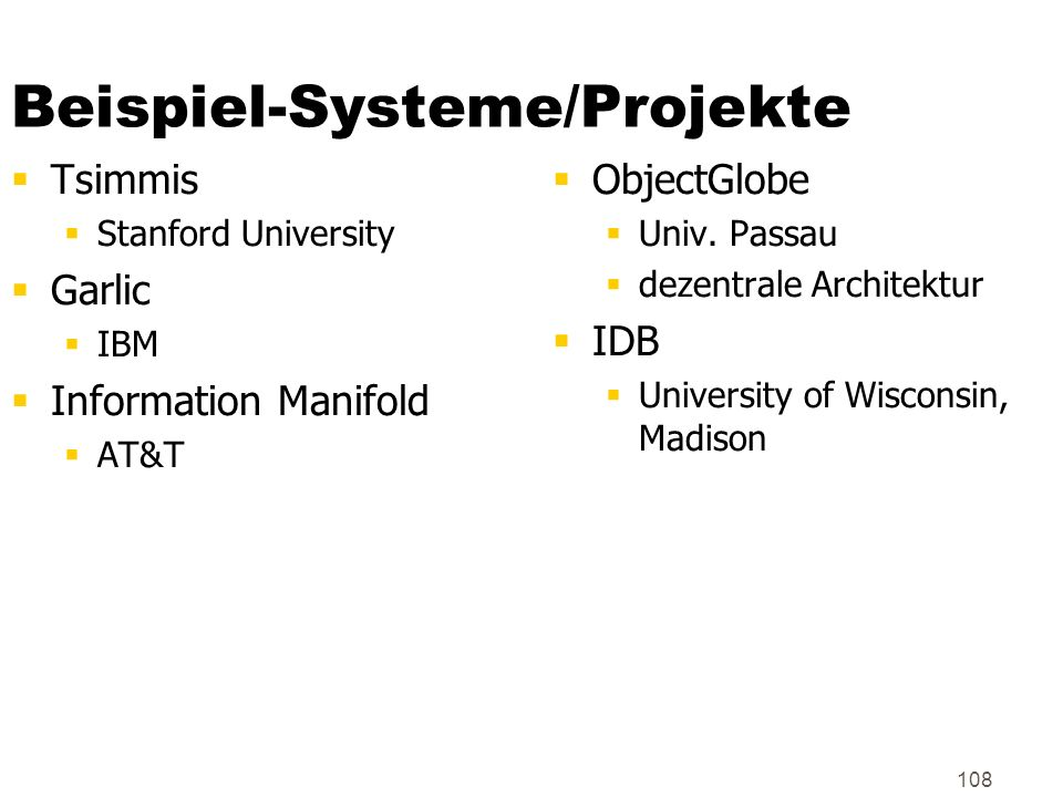 Beispiel-Systeme/Projekte