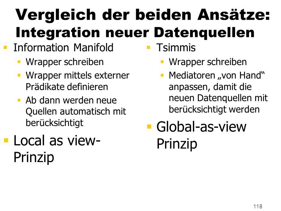 Vergleich der beiden Ansätze: Integration neuer Datenquellen