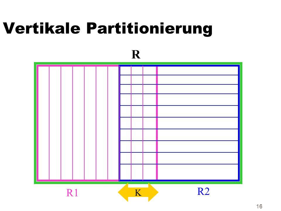 Vertikale Partitionierung