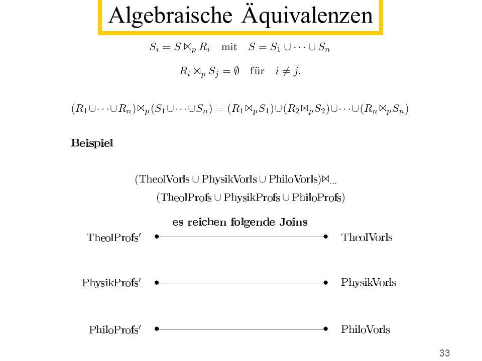 Algebraische Äquivalenzen