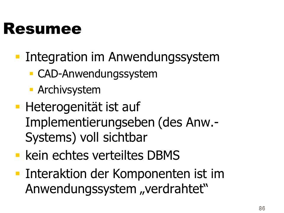 Resumee Integration im Anwendungssystem