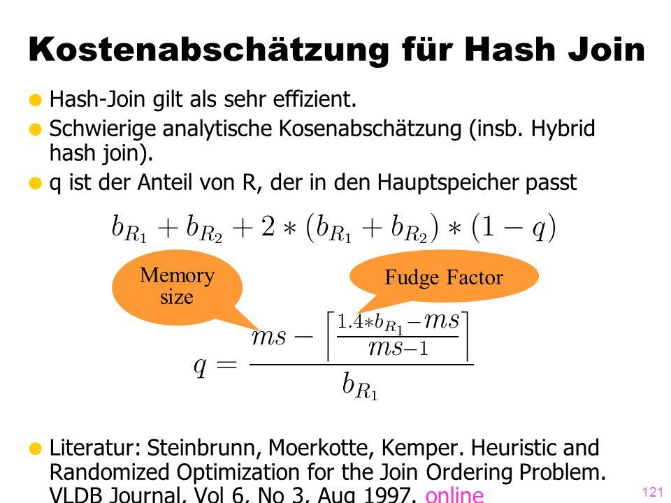 Kostenabschätzung für Hash Join