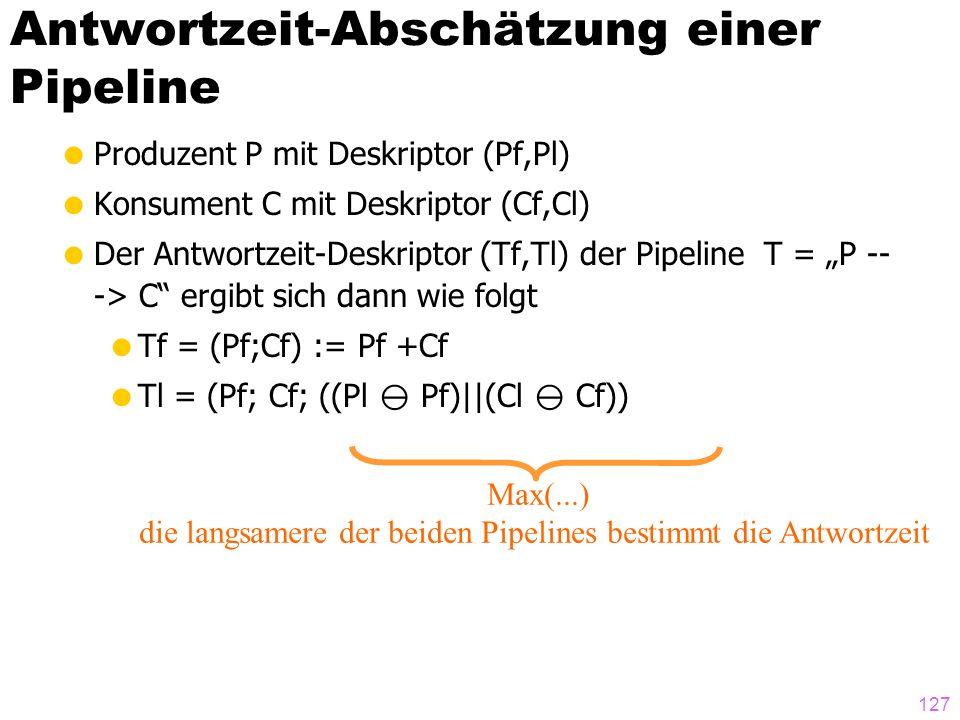 Antwortzeit-Abschätzung einer Pipeline