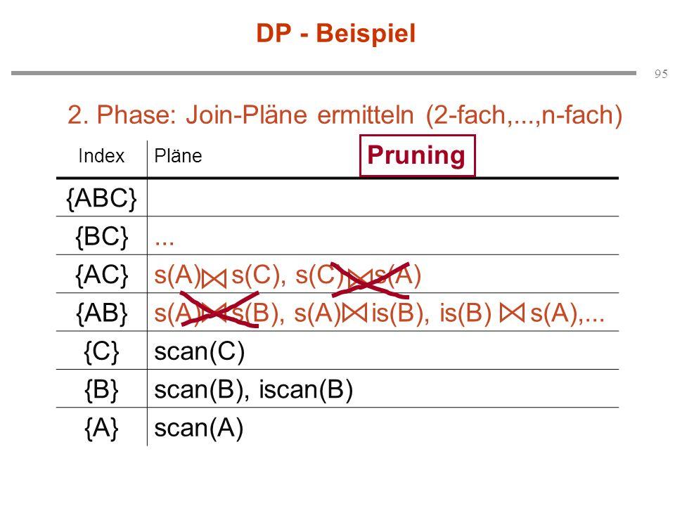 2. Phase: Join-Pläne ermitteln (2-fach,...,n-fach)