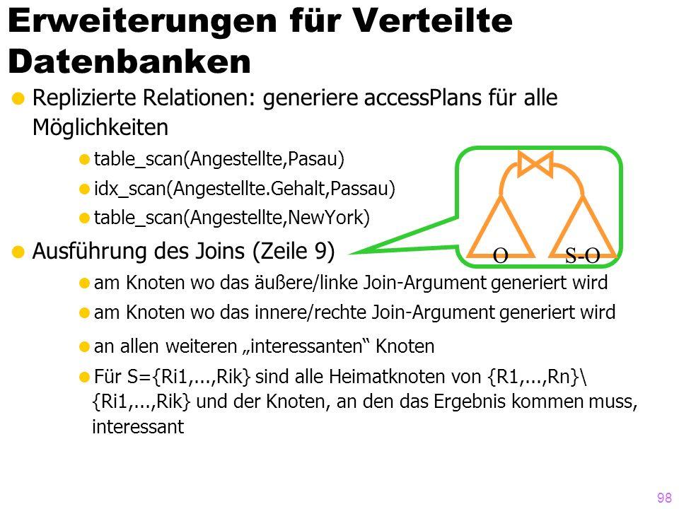 Erweiterungen für Verteilte Datenbanken