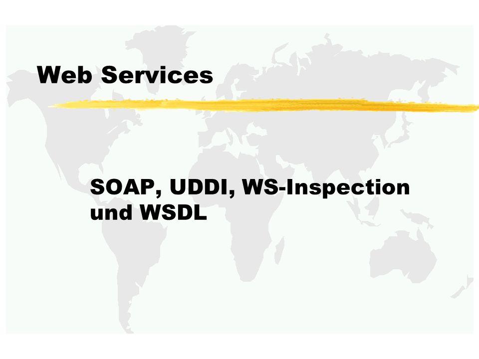 SOAP, UDDI, WS-Inspection und WSDL