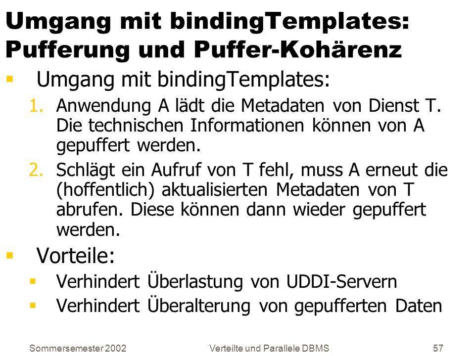 Umgang mit bindingTemplates: Pufferung und Puffer-Kohärenz
