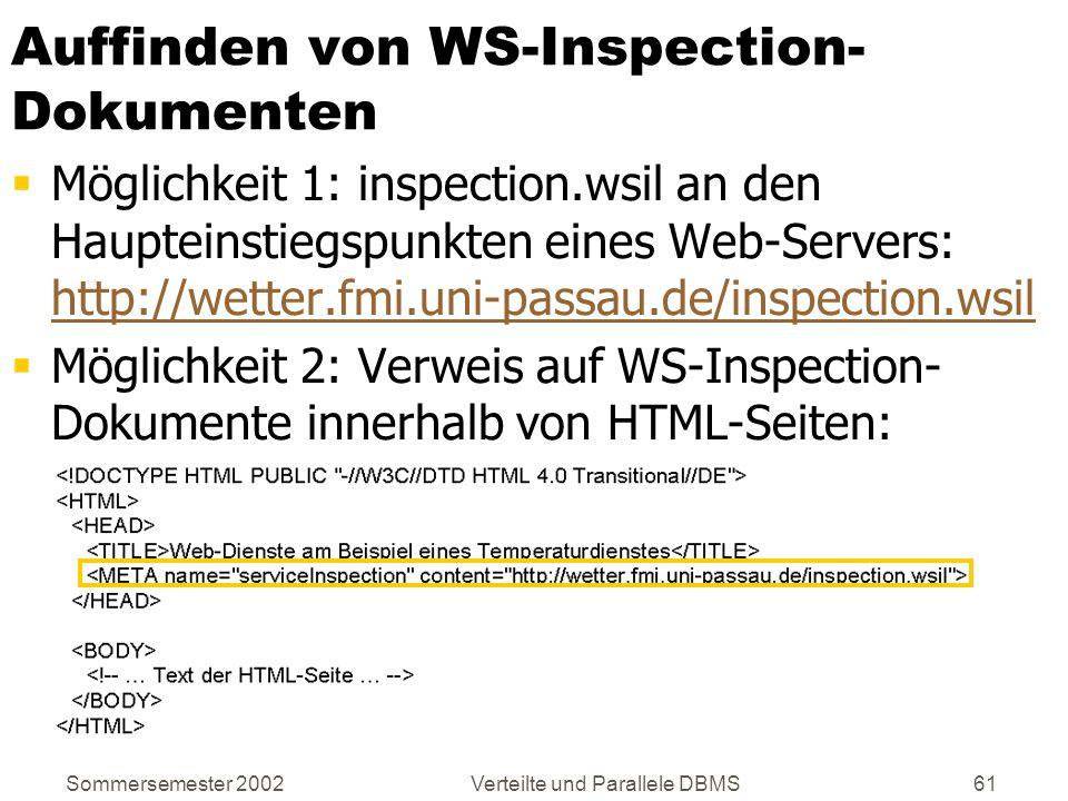Auffinden von WS-Inspection-Dokumenten