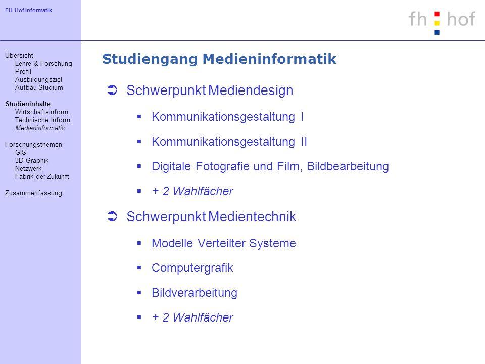 Studiengang Medieninformatik