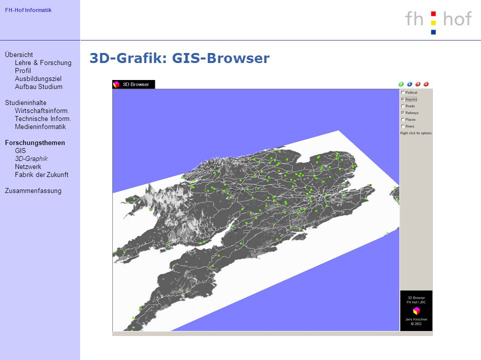 3D-Grafik: GIS-Browser