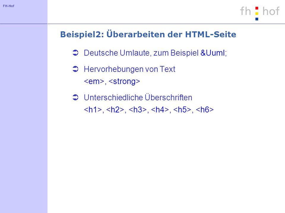 Beispiel2: Überarbeiten der HTML-Seite