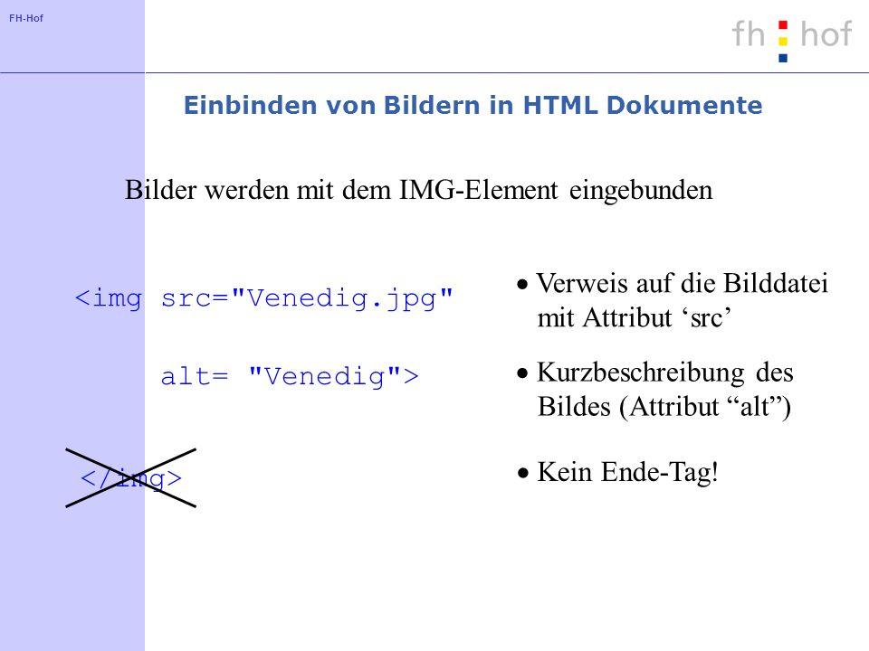 Einbinden von Bildern in HTML Dokumente