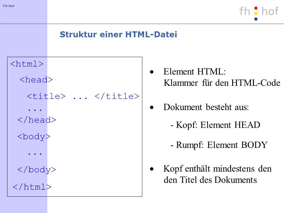 Struktur einer HTML-Datei