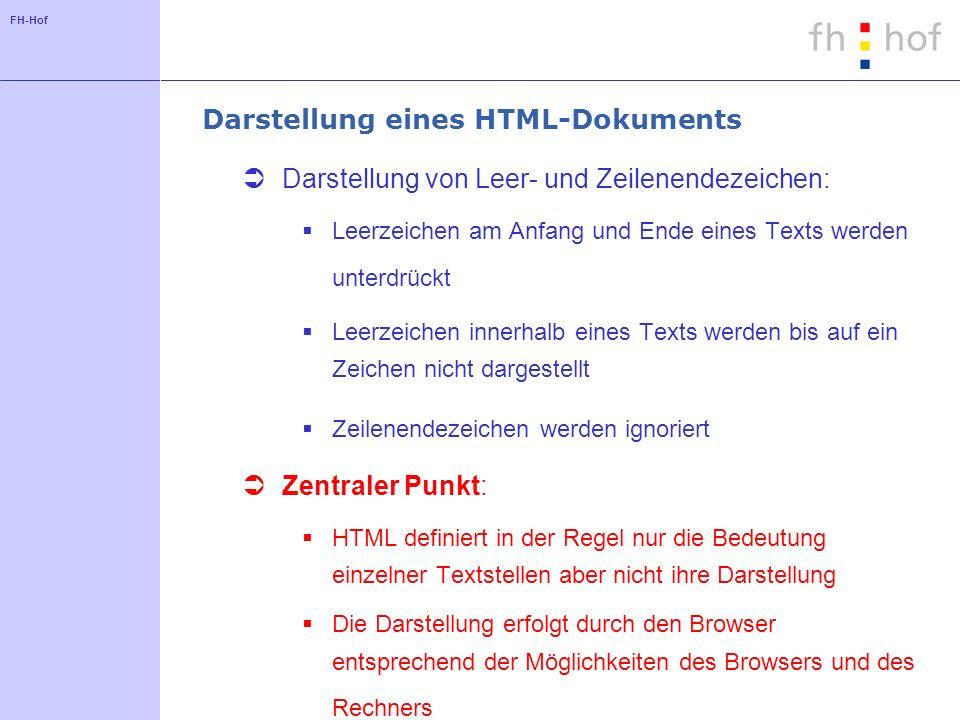 Darstellung eines HTML-Dokuments