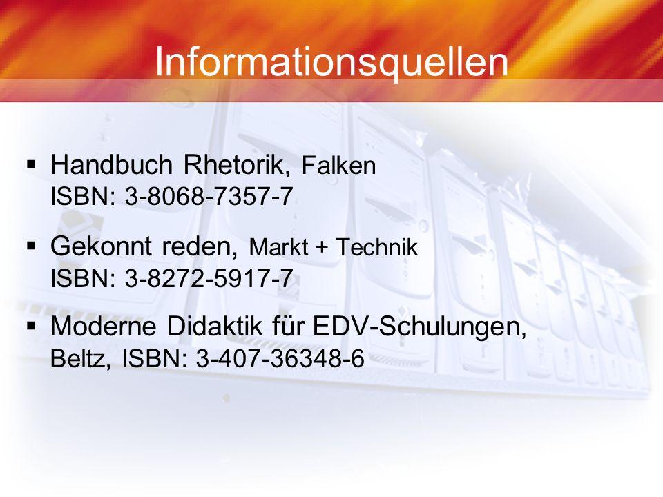 Informationsquellen Handbuch Rhetorik, Falken ISBN: 3-8068-7357-7