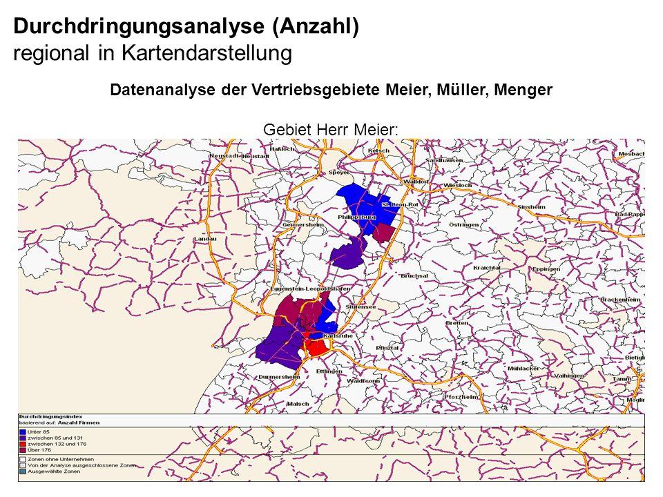 Durchdringungsanalyse (Anzahl) regional in Kartendarstellung