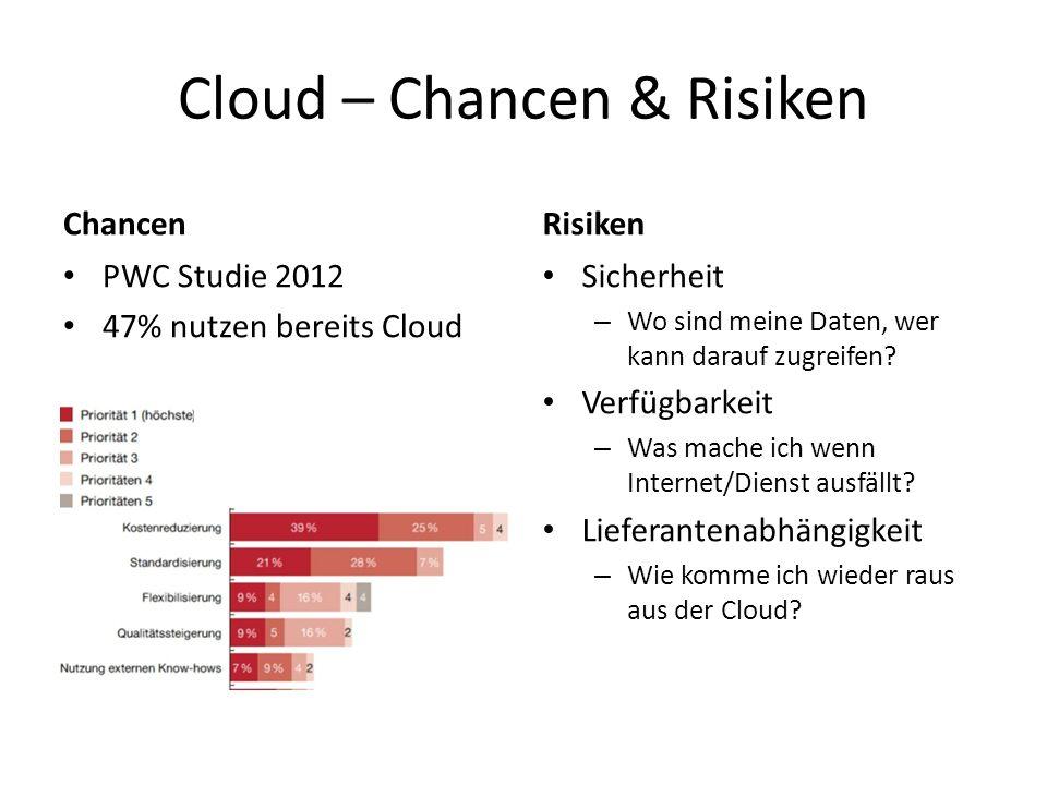 Cloud – Chancen & Risiken